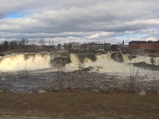 Androscoggin River @ the falls in Auburn