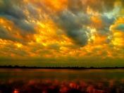 Friday night sunset at lake Manawa