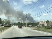 Brush fire in Orange City