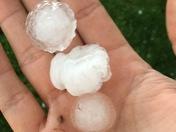 Hail in Southern Iowa