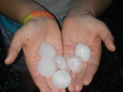 Large hail in Thornburg,  Iowa