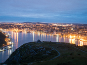 City of St. Johns, Newfoundland at Night