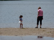 At The Beach With Grandma.