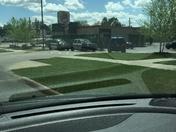 Cops outside Fayetteville Burger King