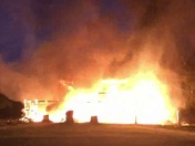 Barn fire in Dayton, Howard County