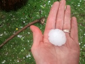 hailstorm 04/20, 1pm; washington township, westmoreland county,