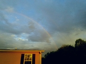 Spring Morning Western sky Rainbow