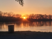 Sunset over the Missouri River
