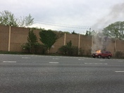 Car fire Baltimore Beltway