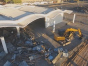 PICTURES OF THE DEMOLITION OF THE OLD FLEA-MARKET FROM A DRONE