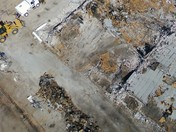 THE MOCK1-BEBOP1 DRONES VIEW OF A DEMOLITION