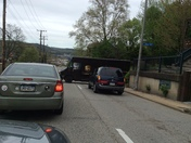 UPS Truck stuck on Herron at Ajax Alley