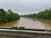 """The YADKIN River was overflowing it's banks yesterday"