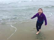 Running on Hampton beach