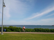 Out biking in the summer
