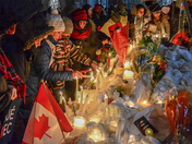 Vigil after a shooting in Quebec City