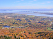 The majestic St. Lawrence River in autumn