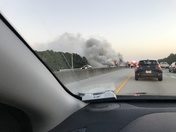 04/28/2017 morning Semi fire on turnpike