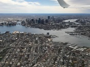 Sky view of the city taken on Patriots day