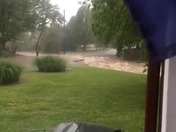 Bridge flood in Rogers on S 22nd st