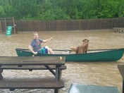 Backyard canoeing