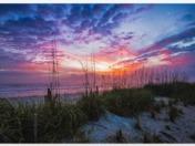 Beautiful colorful sunrise in New Smyrna Beach