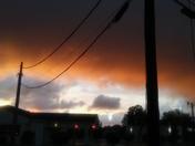 Fiery looking sky