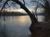 Beautiful Sunrise over the Susquehanna River in York Haven Pa