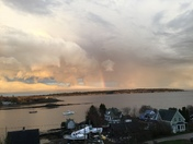 Clouds over Casco Bay