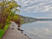 Waterfront trail after flood. Hamilton, ON