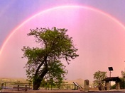Evening rainbow over Jackson