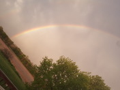 Rainbow near Granger before the rain.