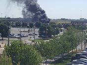 Fire in Bricktown