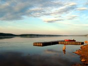 A Dock at Fort Simpson, NWT