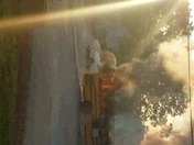 School bus on fire Duncan sc