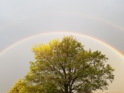 Rainbow seen outside our front door