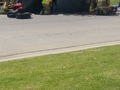 Overturn car at Wal-Mart parking lot