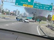 Explosion  in downtown dallas