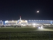 Moon rise over the track