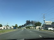 Fire in Dundalk just now on south north point road