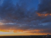 A VERY FIERY SUNSET OVER SE ABQ