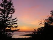 Sunsets on Hermit Island campground