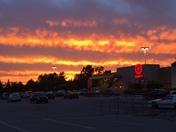 Sunset over Target in Kernersville 5/17/2017