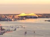 Tobin Bridge at Sunrise