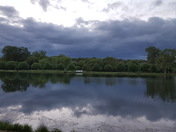 Calm after the storms at Glenwood Lake park last night