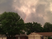 Rainbow in Moore, Okla