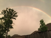 Rainbow during 79mph winds in Midwest City