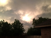 clouds, wind, and strange yellow sky over Norman