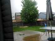 Raining on the deck