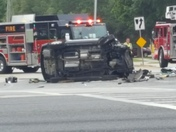Accident on 44 and 19 in Eustis Florida